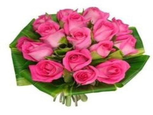 1 Dozen of Pink Roses Bouquet