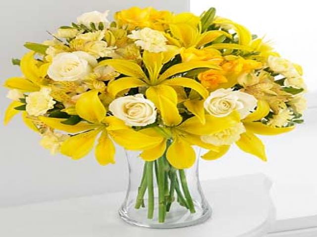 Yellow Birthday Roses